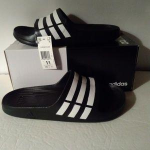 0415c262f633 adidas Shoes - Adidas Duramo Slide Sandals - Black White Men 11